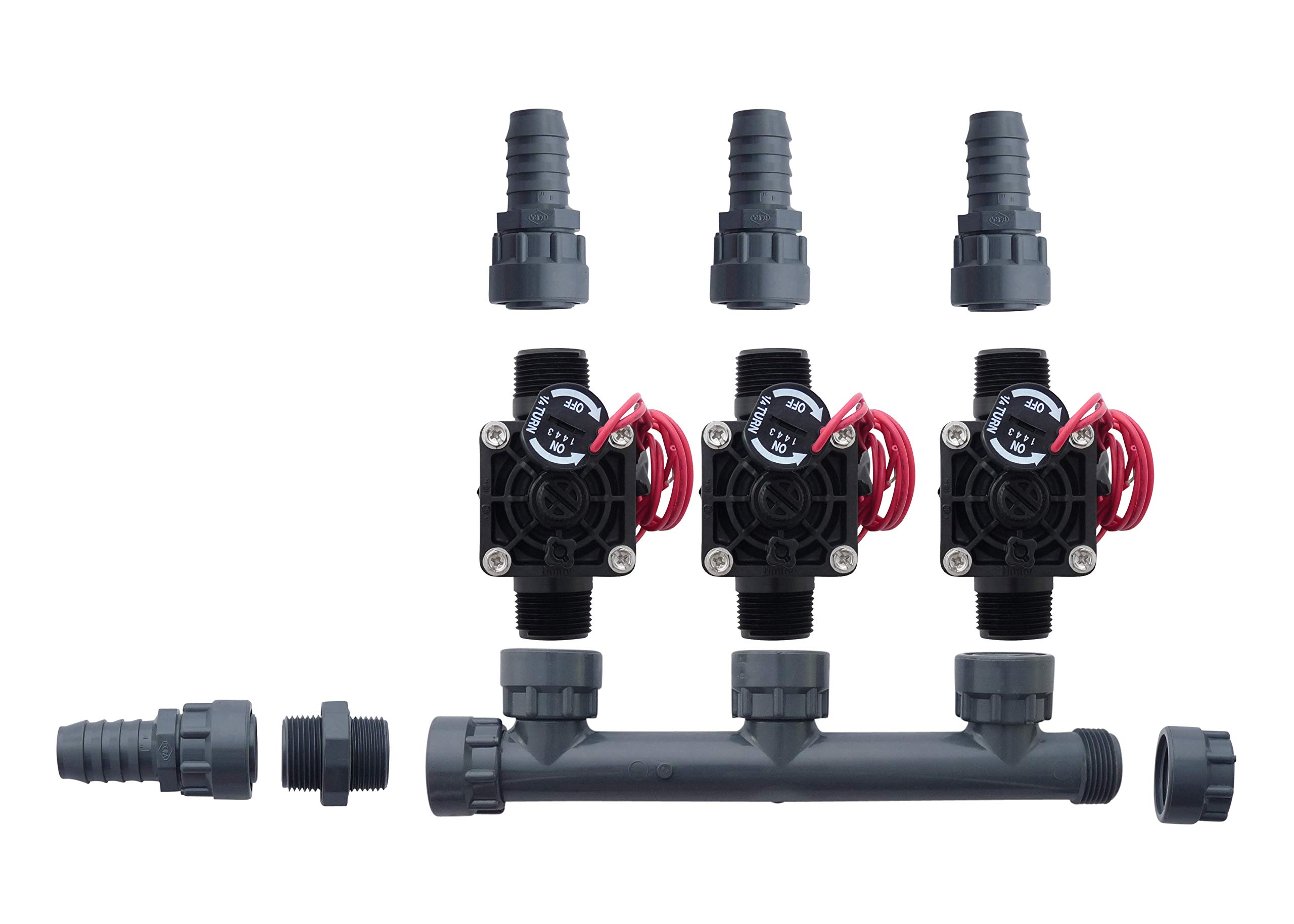 Hunter PGV101-MM 3 Zone Dura Manifold Valve Kit with Flow Control - Barb PGV101MM (3 Zone)
