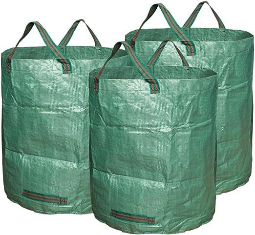 Foraer Bolsas de Basura Saco de Jardín Sacos para Desechos de Jardín Plegable Sacos para Jardín y Follaje Extra Resistentes: Amazon.es: Jardín