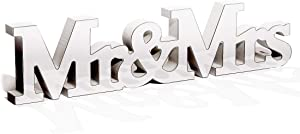 Bright Creations Mr and Mrs Mirror Letter Sign for Wedding Table Decoration, 16.5 x 1 x 4 Inches