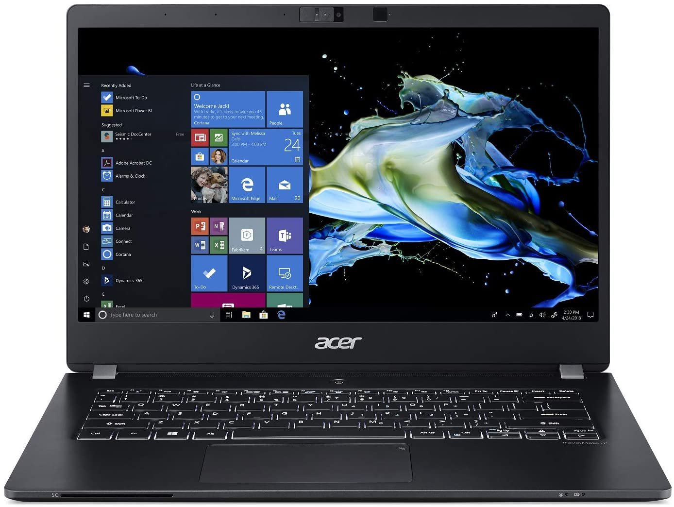 "Acer TravelMate P6 Thin & Light Business Laptop, 14"" FHD IPS, Intel Core i7-8565U, 16GB DDR4, 512GB SSD, 20 Hrs Battery, Win 10 Pro, TMP 2.0, Mil-Spec, Fingerprint Reader, TMP614-51-7294"