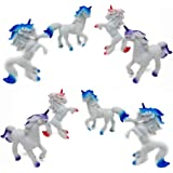 Fun Central (AZ921) 3 Inch 12 Pieces Unicorns Animals, Unicorn Toy Set, Unicorn Vinyl for Kids—Cake toppers, Stocking Stuffers, Party Favors, Goodie Bag Fillers, Game Rewards, Giveaways - Assorted
