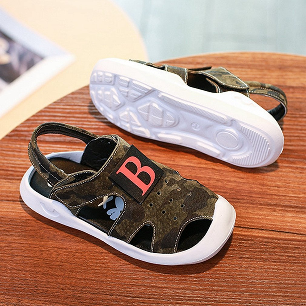 CYBLING Kids Sport Sandals Closed Toe Leather Strap Boys Athletic Beach Shoes Toddler//Little Kid