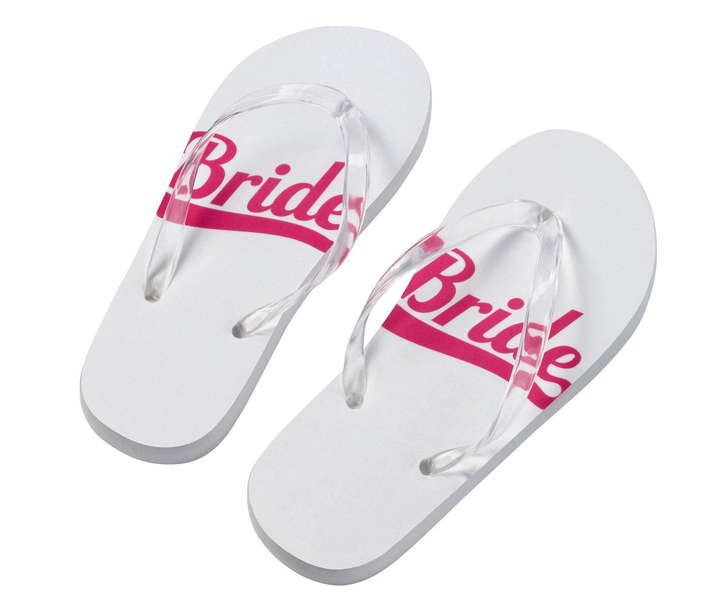 70201a6097b6a7 Amazon.com  Lillian Rose FF672 SB Bride Small 5-6 Wedding Party Flip Flops  Pink White  Home   Kitchen