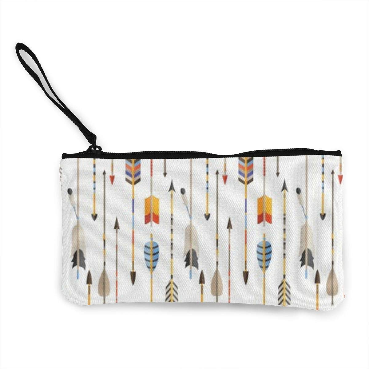 Colorful Indian Arrows Native Style Artwork for Hunters Tote Shopping Bag for Women Coin Purse Wallet Bag Makeup Bag Pencil Bag for Litter Girls Student