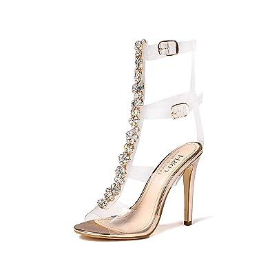 8f59b3a28ffc6 Hell Heel Gem Clear Stiletto Heels