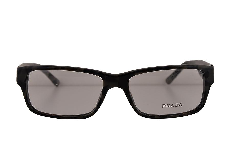 f0cf609c5b6 sweden prada pr16mv eyeglasses 55 16 140 spotted brown gray w demo clear  lens 04cb5 108a0