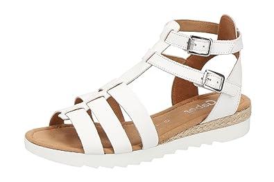 Gabor Damen Sandalette - Riemchen Sandalen Rhodos - 82.744 Comfort  82.744.50 Weiß, EU 32786d7771