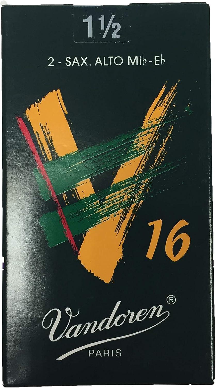 Vandoren V16 Duo Pack Alto Saxophone Reeds 1.5 Pack of 2