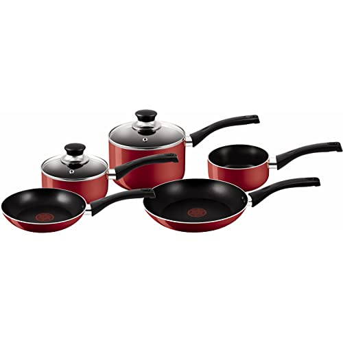 Tefal Bistro 5-Piece Red Cookware Set
