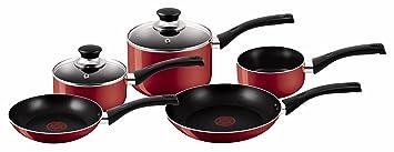 Tefal A161S545 Conjunto de cazuelas y sartenes rojo