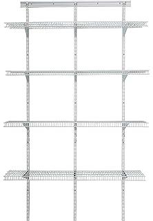 ClosetMaid 2845 ShelfTrack 4ft. Pantry Organizer Kit, White