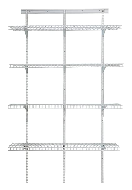 ClosetMaid 2845 ShelfTrack 4ft Pantry Organizer Kit White