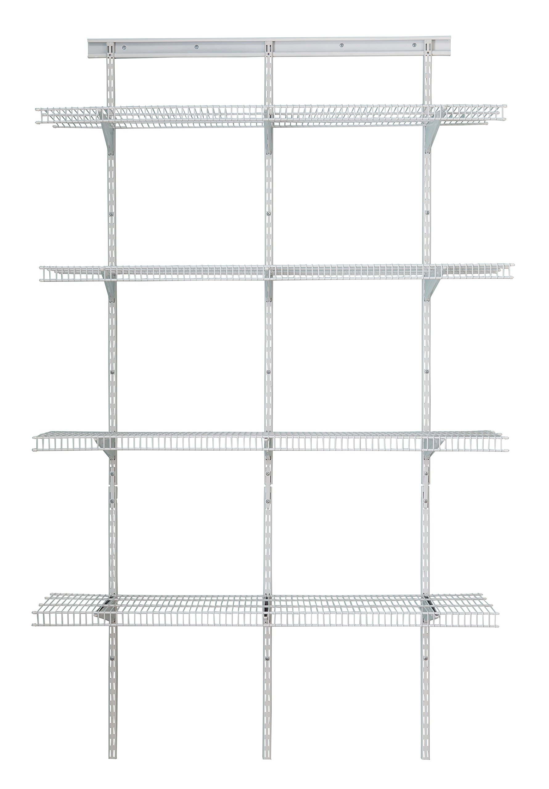ClosetMaid 2845 ShelfTrack 4ft. Pantry Organizer Kit, White by ClosetMaid (Image #1)