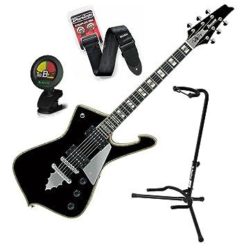 Ibanez Paul Stanley ps120bk firma guitarra eléctrica w/soporte, sintonizador, correa, y