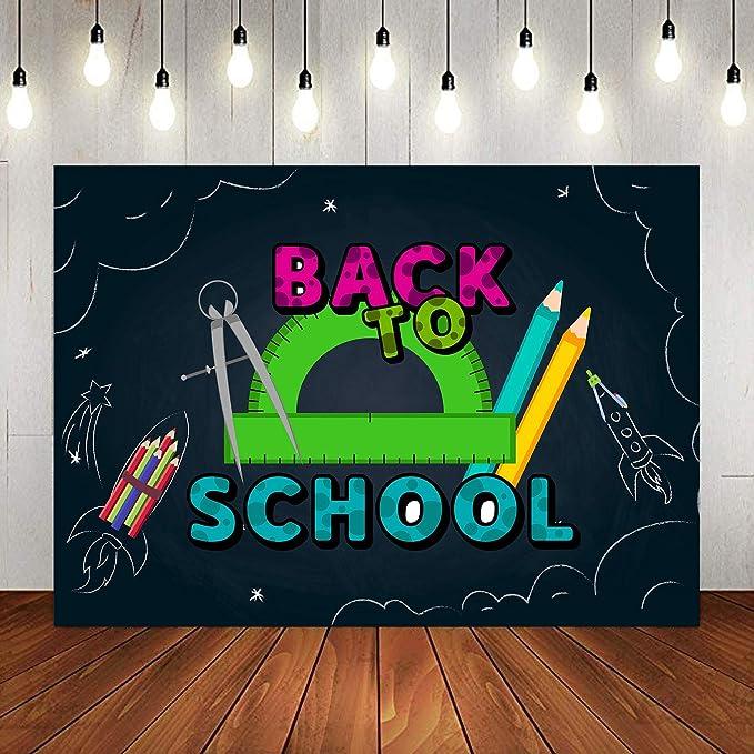Fondo Decorativo para lápices de Vuelta a la Escuela para Fiesta de Puros, 9 x 6 pies, Primer día de la Escuela, Aula, Maestro, Fondo de fotografía, Accesorios de Estudio de Cabina