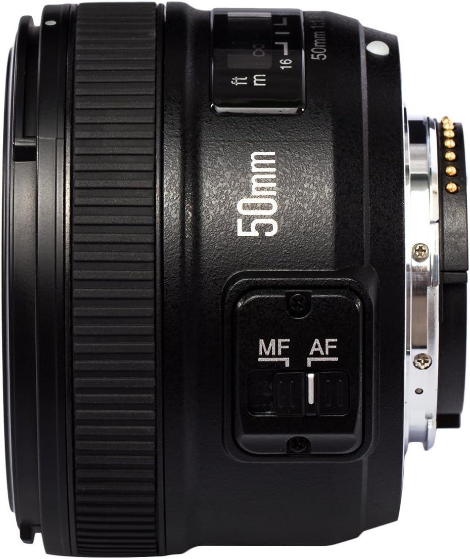 Yongnuo YN 50MM F1.8 Lente Objetivo (Apertura F/1.8) para Nikon ...