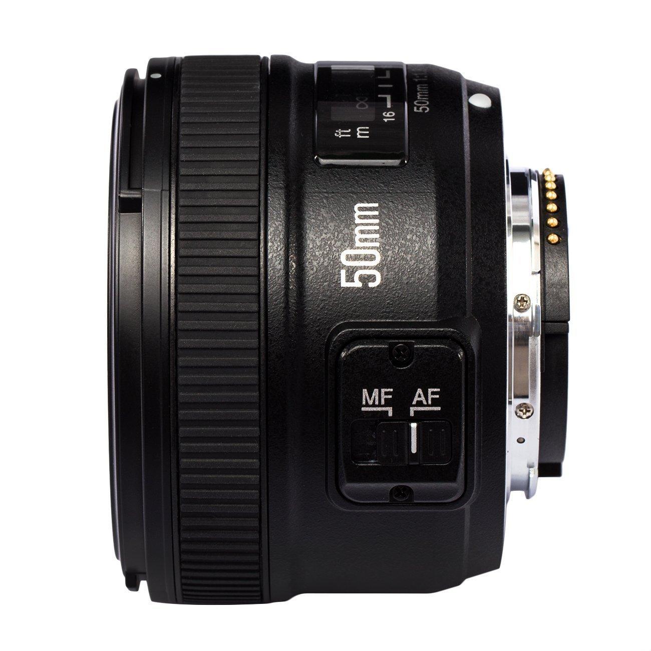 Yongnuo YN 50MM F1.8 Lente Objetivo (Apertura F/1.8) para Nikon DSLR ...