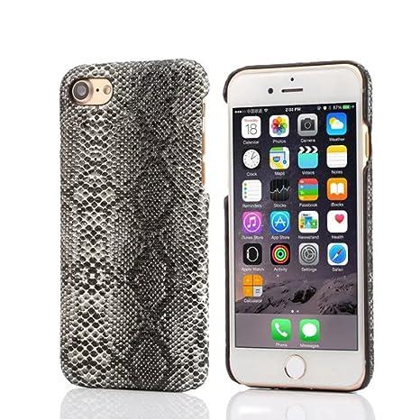 Apple iPhone 7 4.7 Inch Carcasa Protectora, Original Diseño Imitado la Piel de Serpiente Apariencia Serie Delgado Ligero Bonita Duro Funda Cover