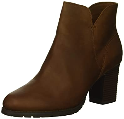 CLARKS Womens Verona Trish Fashion Boot, Dark tan Leather, ...