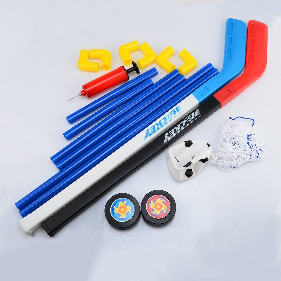 hockey sobre hielo y hockey sobre hielo Stick fokom Ni/ños F/útbol Parte porter/ía de hockey sobre hielo porter/ía de f/útbol Juego de 1/porter/ía con f/útbol Bomba