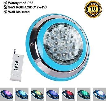 LED Einbauscheinwerfer mit Trafo und Edelstahlblende Poolleuchte Unterwasser