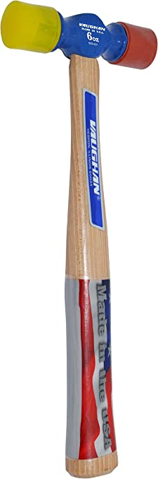 10 1//2-Inch Long Vaughan SF6 6-Ounce Soft-Face Hammer Vaughan /& Bushnell Mfg SF6XXX 1 3//8-Inch Face Diameter