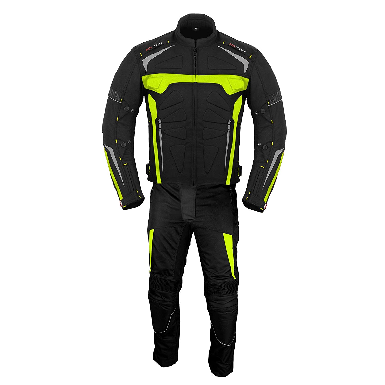 Motorbike Suit Gloves Motorbike Boots Shoes 2 Piece Suit Rider Bike Motorcycle Motorbike Waterproof Suit Jacket with Trouser Gloves Boots CE Armour All Weather for Mens