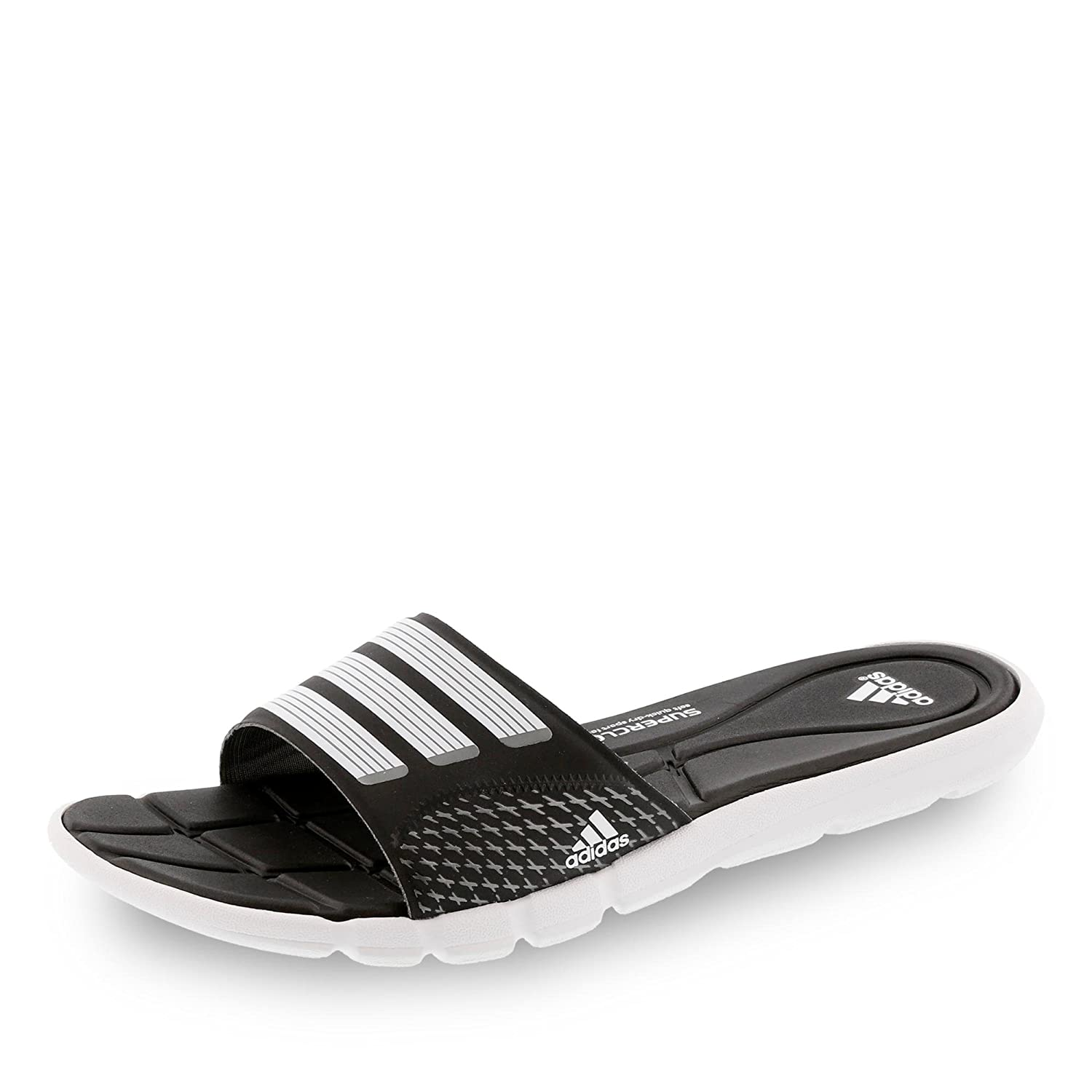 193d741e6342 Adidas AdiPure 360 Slide Women Badelatschen core black-white-iron ...
