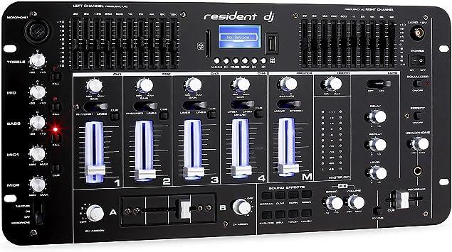 Resident DJ Kemistry 3BK - Mesa de Mezclas , 4 Canales , Equipo de ...
