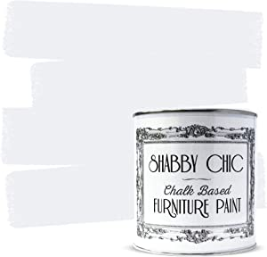 Shabby Chic Furniture Chalk Paint: Chalk Based Furniture and Craft Paint for Home Decor, DIY Projects, Wood Furniture - Chalked Interior Paints with Rustic Matte Finish - Liter - Winter White