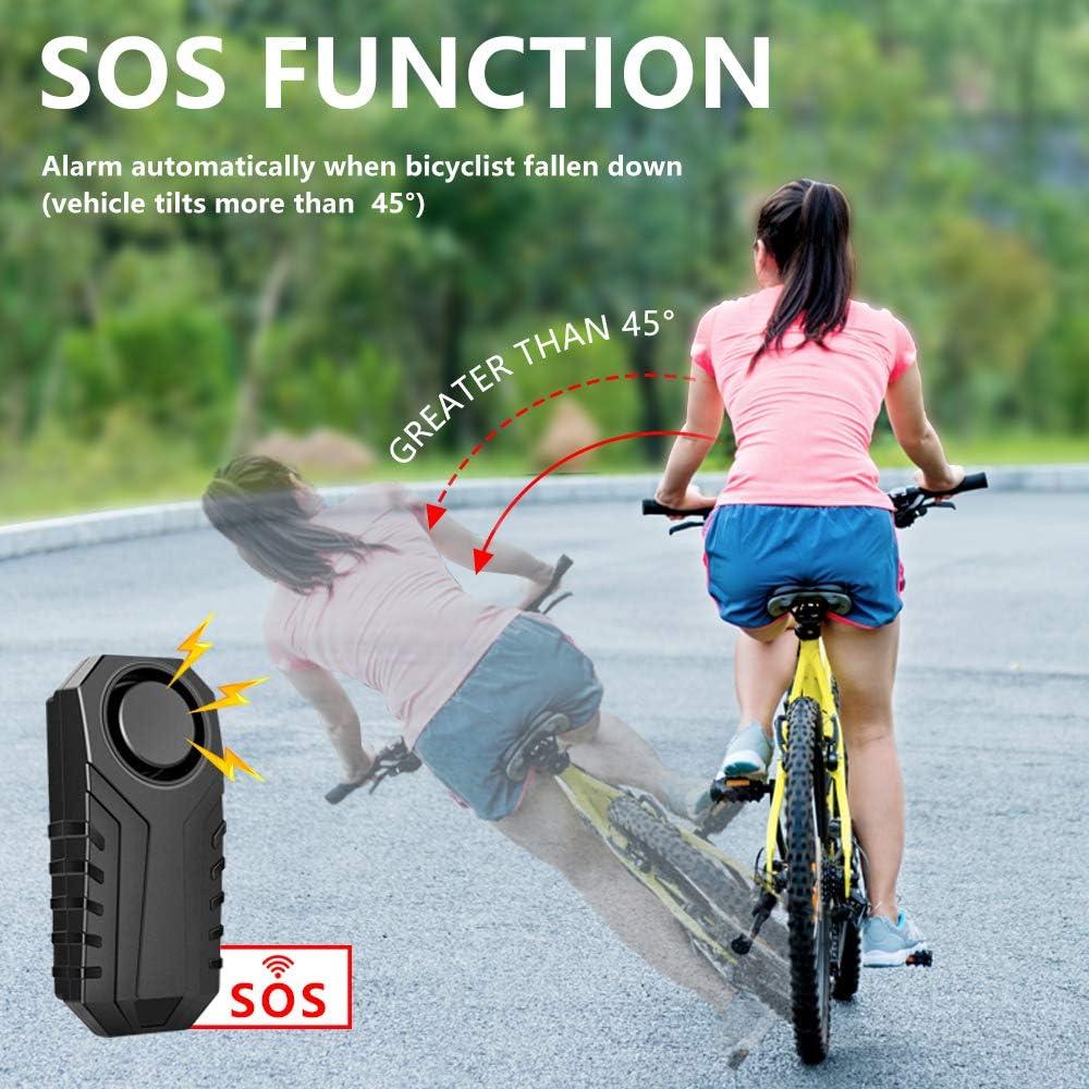 und Fenstersicherheit Fahrrad Alarmanlage 113 dB YBLNTEK Drahtlose Motorrad Fahrrad Alarm Mit Fernbedienung IP55 Wasserdicht Diebstahlsichere Vibration zubeh/ör f/ür e Scooter//ebike//T/ür