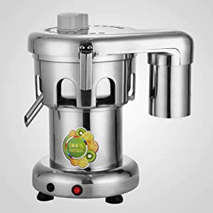 110V Commercial Heavy Duty Electric Juicer 370W, Juice Extractor Machine Stainless Steel