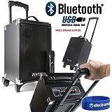 Fenton ST050 Portable PA Speaker 8 Inch with Bluetooth MP3 USB Wireless Radio VHF Microphone