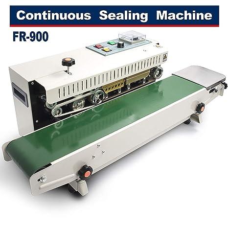 HUKOER Máquina de sellado continuo FR-900 Automático ...