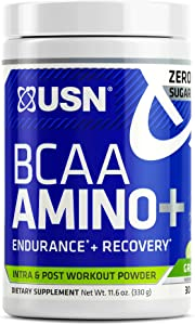 USN Supplements BCAA Amino + Supplement, Green Apple, 11.60 Ounce (USN0012)