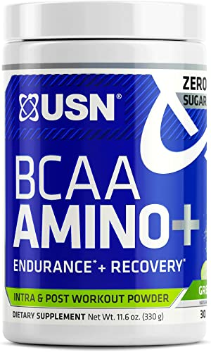 USN Supplements BCAA Amino Supplement, Green Apple, 11.60 Ounce USN0012