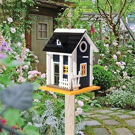 Casas de pájaros For la cabina pequeño pájaro Birdhouse decoración al aire libre Alimentador de madera