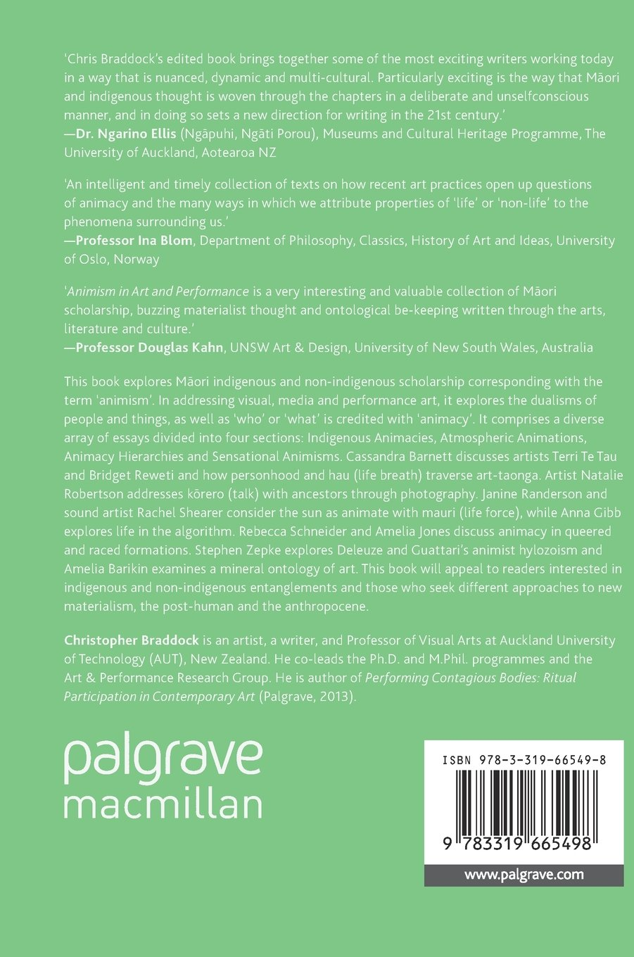 Animism in Art and Performance by Palgrave Macmillan