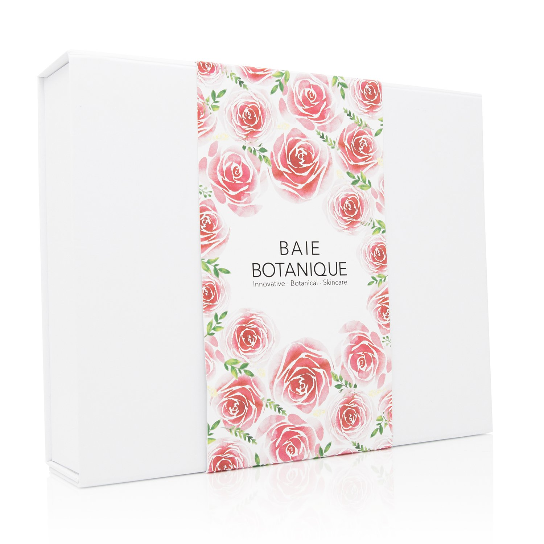 Baie Botanique - Caja de regalo Rose Renew. Conjunto de cuidado de la piel anti-envejecimiento. Colección de cuidado de la piel orgánica y natural.