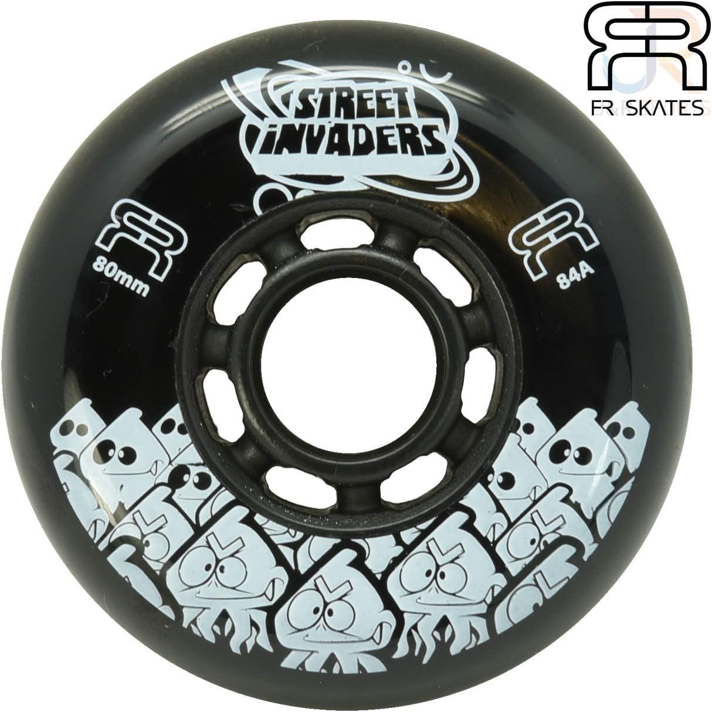 Single Wheel Black FR Street Invader II Inline Skate Wheel