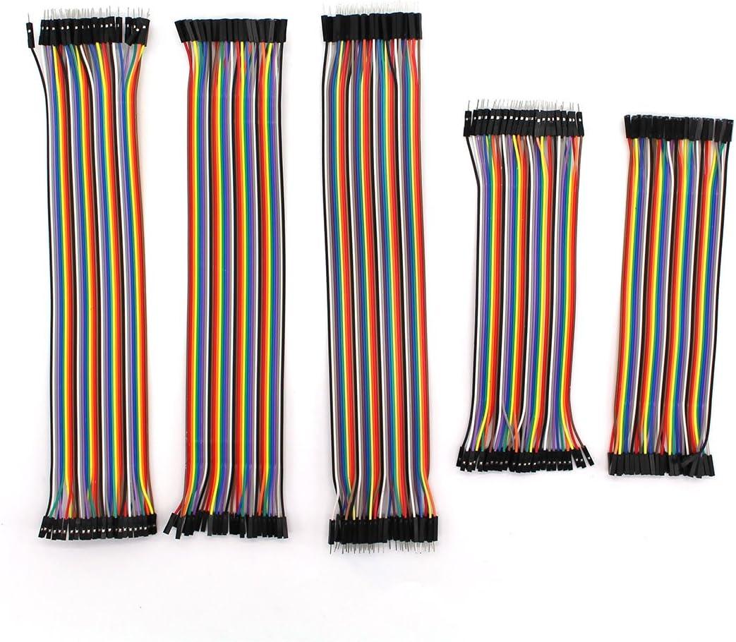 m/âle vers femelle 30/cm 40pin m/âle vers m/âle femelle vers Famale 2.0//à 2.0/Dupont Breadboard fils Jumper kit de c/âble 5/sortes Raogoodcx 200/pcs