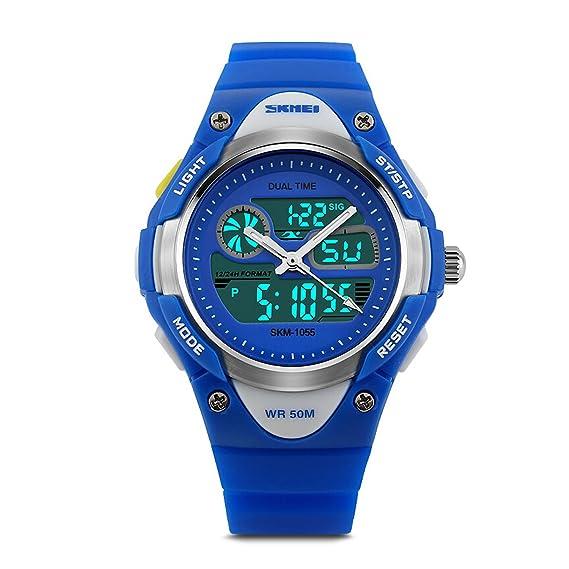 Niños Deportes reloj digital analógico reloj de pulsera con ...