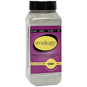 SMELLEZE Natural Vomit & Smell Absorbent: 2 lb  Powder Stops Puke Odor
