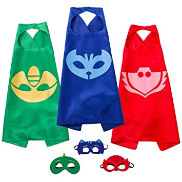 Amazon.com: Joy Day Capes and Masks - Juego de 3 máscaras ...