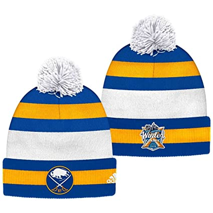 new products 69709 ae5f4 Buffalo Sabres 2018 Winter Classic Cuffed Pom Knit Players Adidas Hat