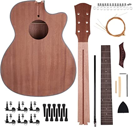 Caiyuangg 40 Acoustic Guitar Guitar Diy Unfinished Kit For Student Kid Guitar Player Music Lovers Luthier Projects Kit Amazon Co Uk Musical Instruments