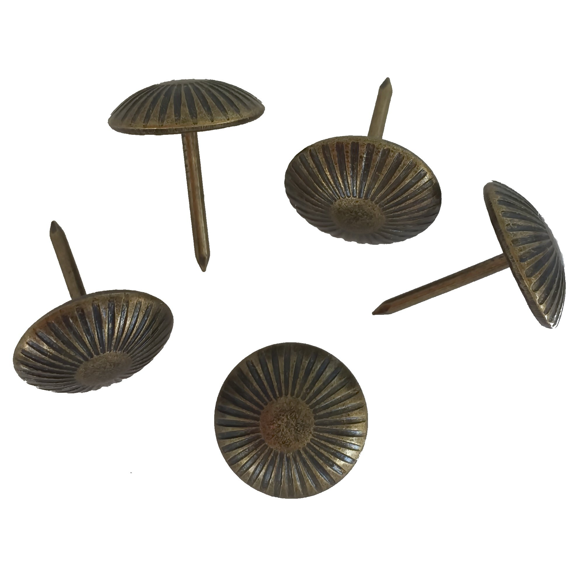 decotacks Sunny Upholstery Nails/Tacks 5/8'' - 100 Pcs [Antique Brass, French Natural] DX120AB by decotacks
