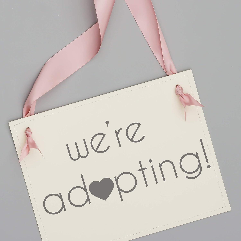 Amazon Com We Re Adopting Sign Adoption Announcement Banner Handmade