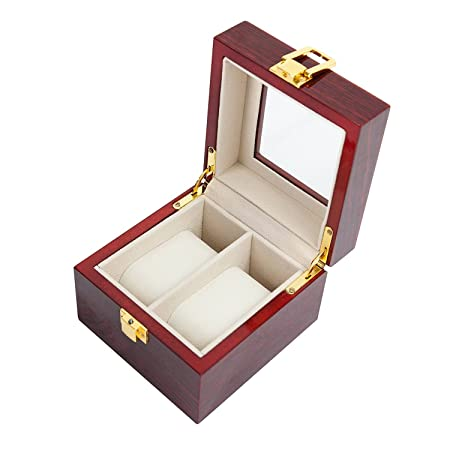 74bf39440 VARANDA 2 Watch Display Box Case Wooden Piano Paint Red  Amazon.co.uk  DIY    Tools