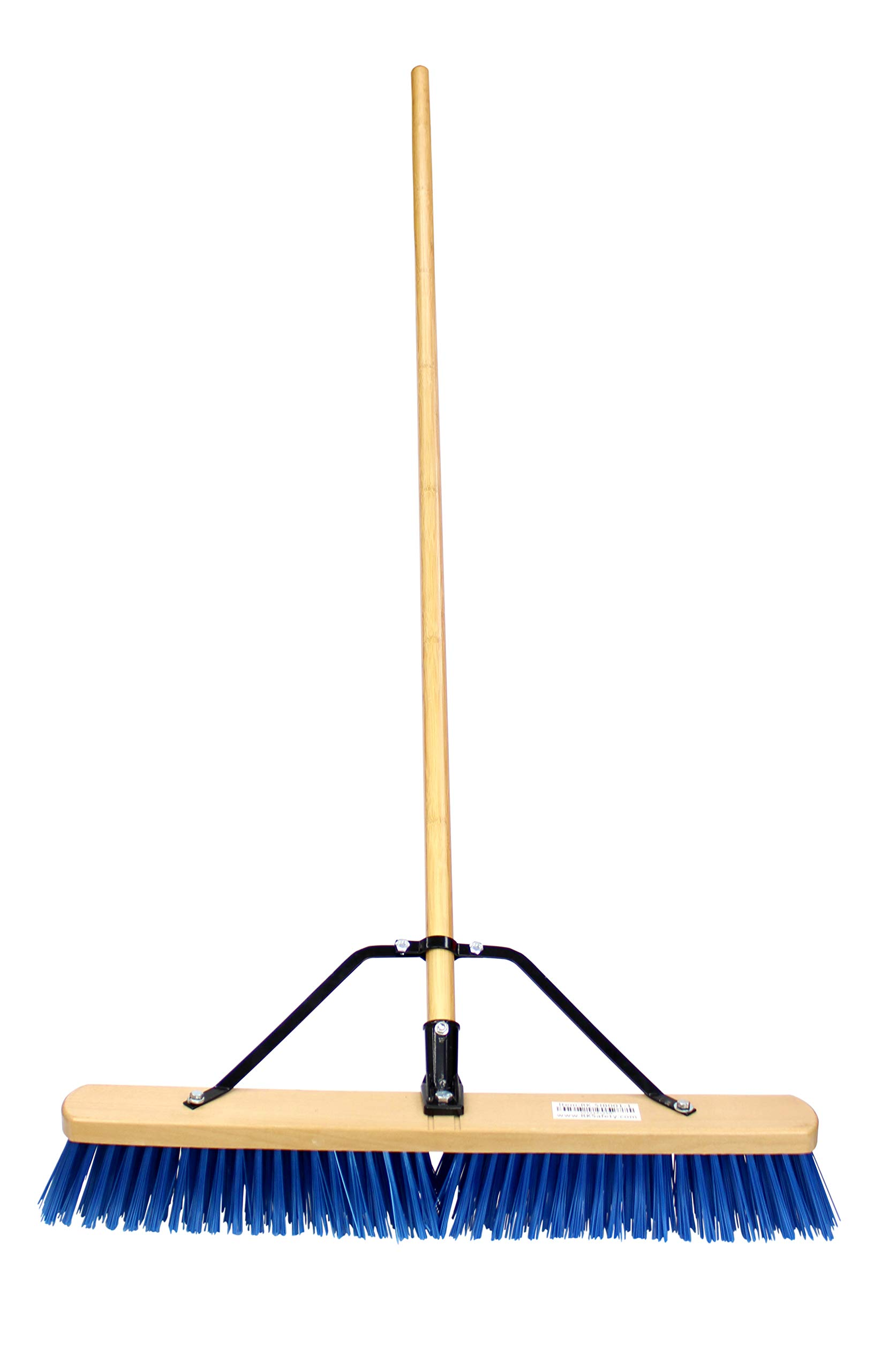 24'' RK Safety Wooden Push Broom With Brace and Bamboo Handle (Pack of 6) by RK SAFETY